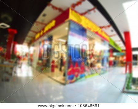 Abstract And Blur Image Of The Shopping Center