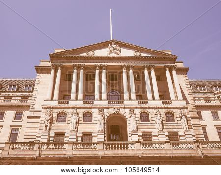 Retro Looking Bank Of England In London