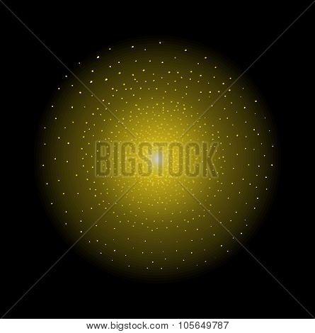 Star shining. Yellow