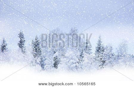 Snowing