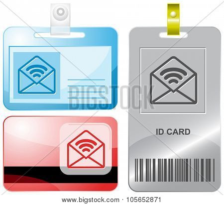 open mail with sound. Raster id cards.