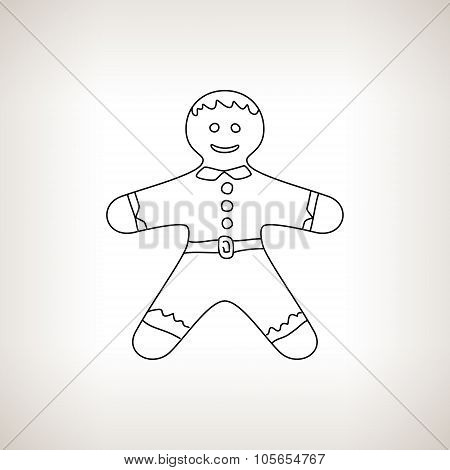 Gingerbread Man On A Light Background