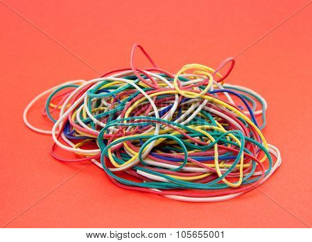 Pile of standard rubber bands