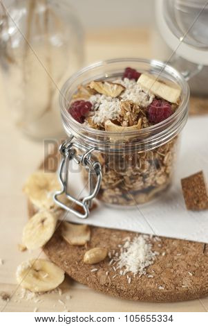 Jar of muesli