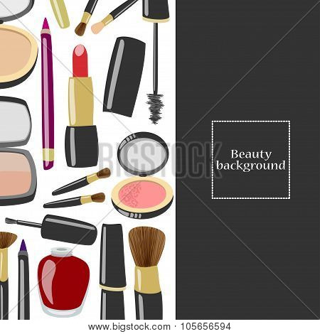 Beauty Product Background With Copyspace