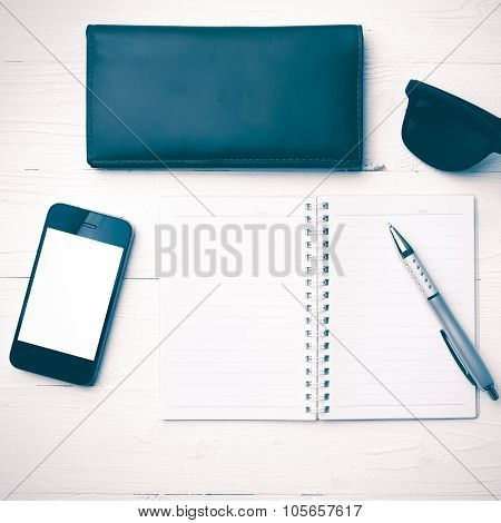 Notepad With Gadget Vintage Style