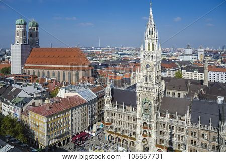 New Town Hall and Frauenkirche, Munich