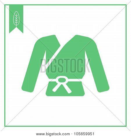 Karate kimono with belt