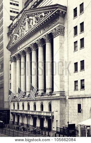 The New York Stock Exchange on Wall Street in New York City