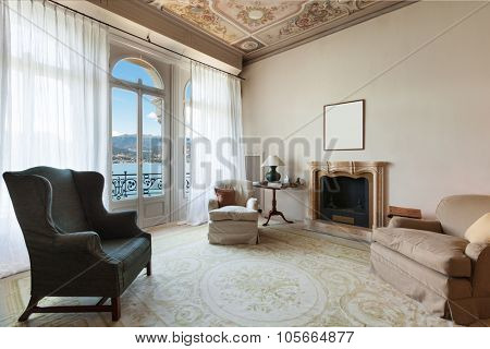 comfortable living room of a prestigious building
