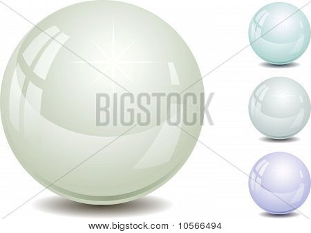 Set of color pearl
