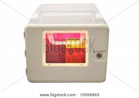 Caja de eliminación de objetos punzantes Biohazard