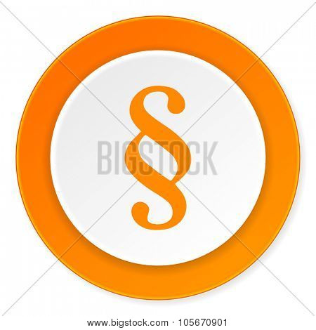 paragraph orange circle 3d modern design flat icon on white background