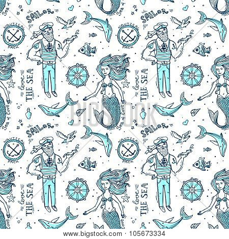 sailor and mermaid