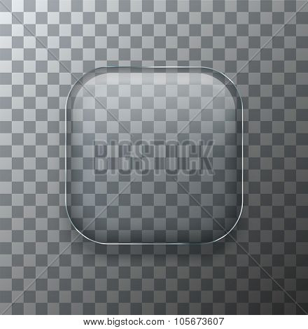 Vector modern transparent square glass plate