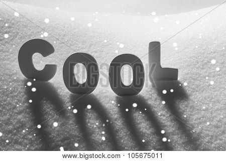 White Word Cool On Snow, Snowflakes
