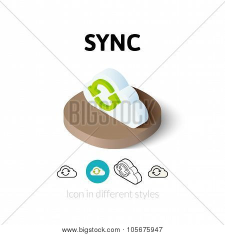 Sync icon in different style