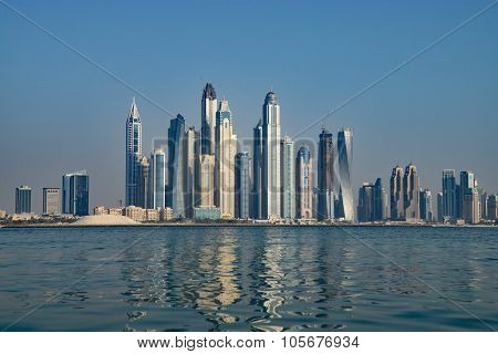 Dubai Skyline In Summer