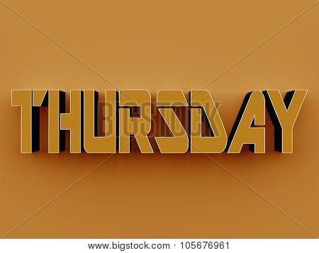 3D Text - Thursday