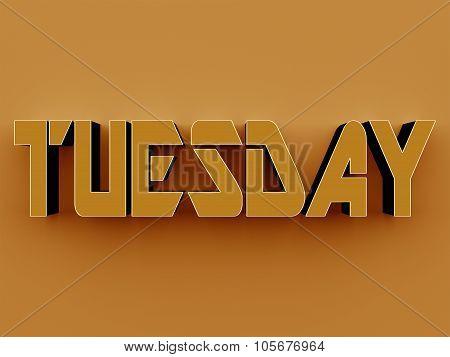 3D Text - Tuesday