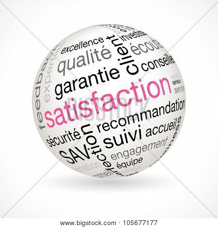French Satisfaction Theme Sphere With Keywords