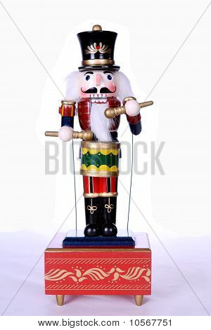 wooden nutcracker with drum