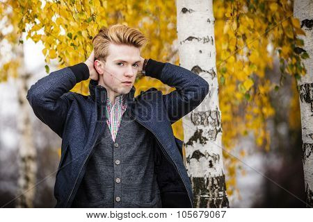 Young Handsome Man Outdoors