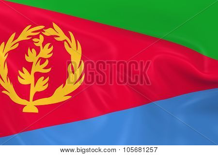 Waving Flag Of Eritrea - 3D Render Of The Eritrean Flag With Silky Texture