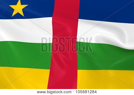 Waving Flag Of The Central African Republic - 3D Render Of The Central African Flag With Silky Textu