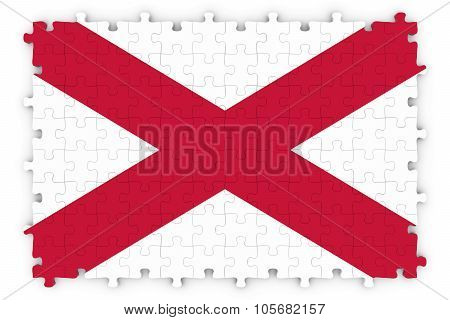 Northern Irish Flag Jigsaw Puzzle - Flag Of Northern Ireland Puzzle Isolated On White