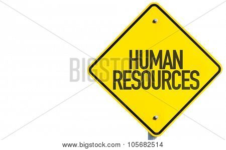 Humans Resources sign isolated on white background