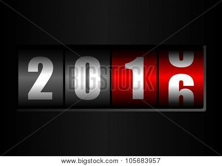 2016 new years illustration with counter