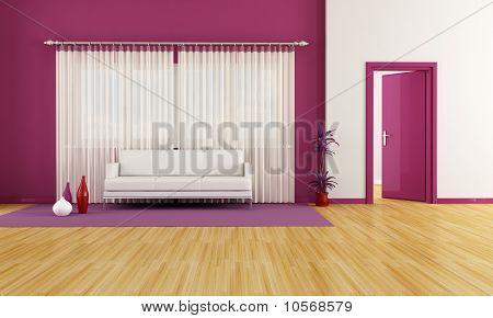 Purple And White Lounge