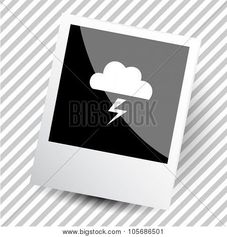 thunderstorm. Photoframe. Vector icon.