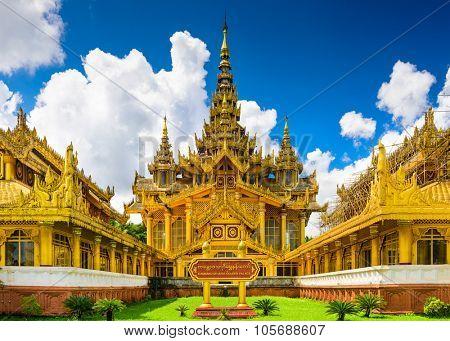 Bago, Myanmar at Kambawzathardi Golden Palace.