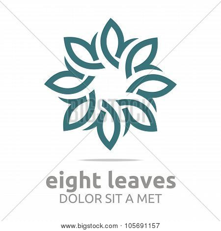 Logo Eight Leaves