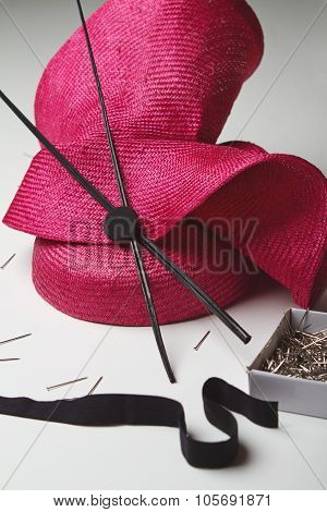 Close Up Of A Fashion Hat Accessory For The Races