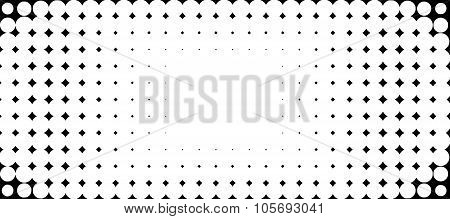 Halftone Bubble Background In Black And White