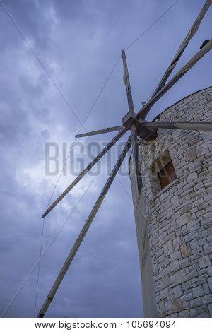 Old windmill of Corfu town Greece