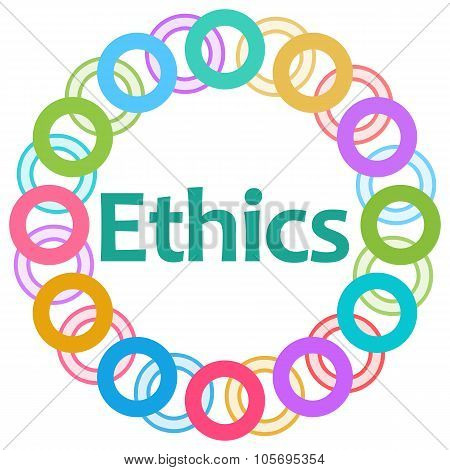 Ethics Text Colorful Rings Circular