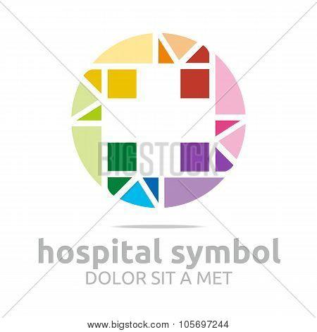 Logo symbol hospital