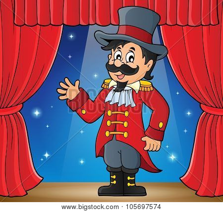 Circus ringmaster theme image 2 - eps10 vector illustration.