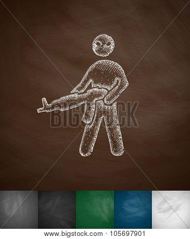 man with a gun icon