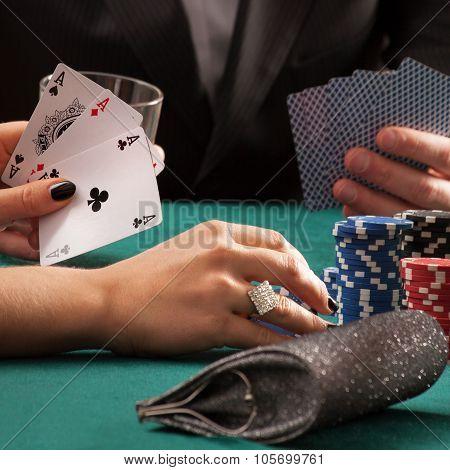 Poker Game In Casino