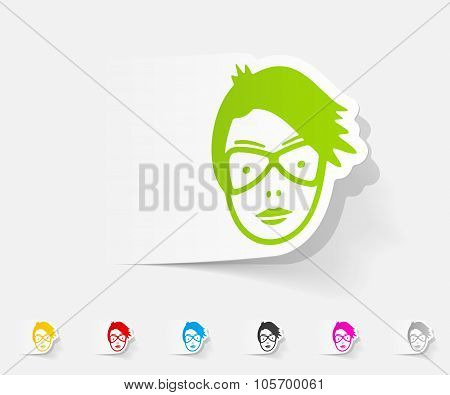 realistic design element. face girl