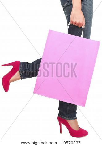 Shopping Lady Copy Space