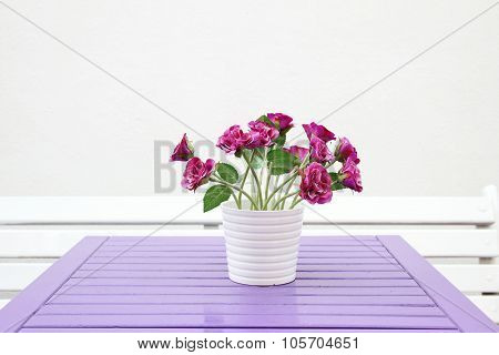 Bouquet on the table