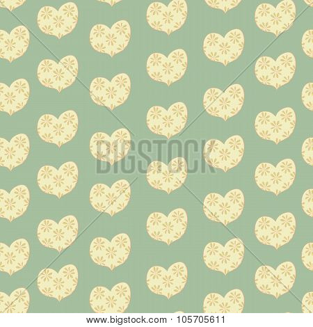 heart in a floret seamless valentines day pattern