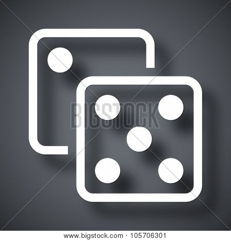 Dice Icon, Stock Vector