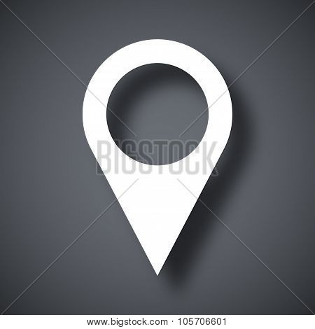 Map Pointer Icon, Stock Vector